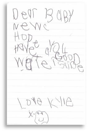 Letter from Kyle (Dec 28/09)